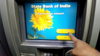Cash withdraw from SBI ATM ||  How to money withdraw from ATM | withdraw money from atm