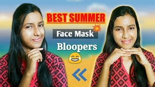 SUMMER SPECIAL | Remove Sunburn & SunTan | Get CLEAR Skin || Best Summer Face Mask [With Bloopers].