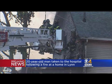 Large House Fire In Lynn Sends Man, 2 Firefighters To Hospital
