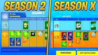 Evolution of Fortnite Battle Pass Items From Season 2 - Season 10! (Fortnite Nostalgia)