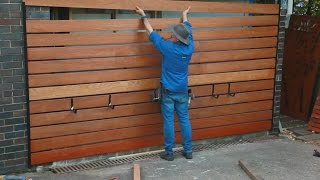 Garage Makeover - Easy timber screen