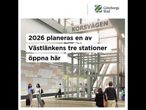Station korsvägen öppnar 2026