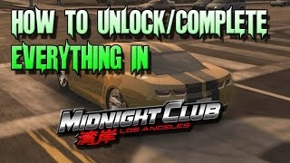 Midnight Club LA: How To Unlock & Complete Everything Make Everything Free *Links in Description*