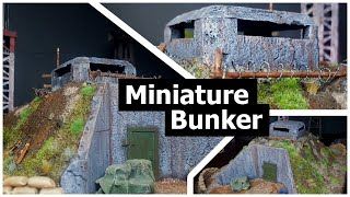 Miniature Underground Bunker for Wargaming Terrain and Tabletop Games