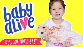 NEW Baby Alive Welcome Home Baby