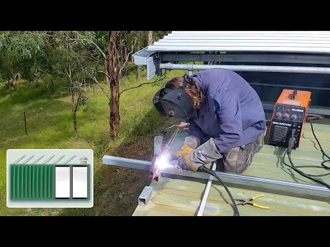 Shipping Container House – How to MIG weld off-grid
