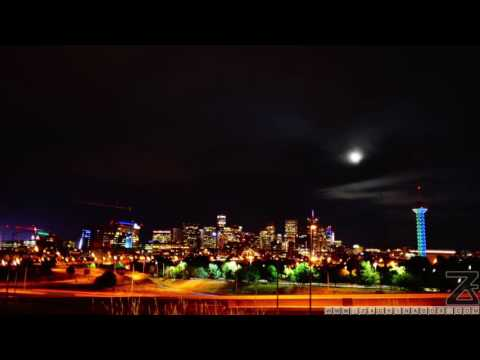 Downtown Denver Time-lapse Video of a Storm Cloud with Lightning and the Full Moon Rising