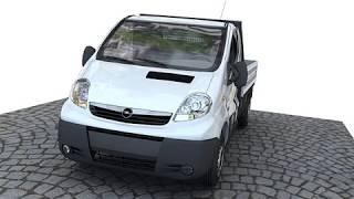 3D Model of Opel vivaro pickup Review