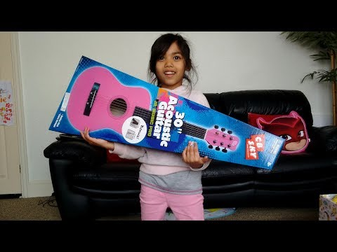 Pink Guitar Unboxing and Playtime | Little Girl Smyths Toys Review Toy Haul Paw Patrol