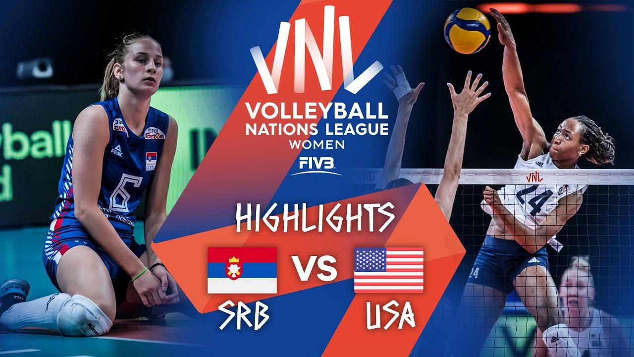 Download SRB vs. USA - Highlights Week 2 | Women's VNL 2021