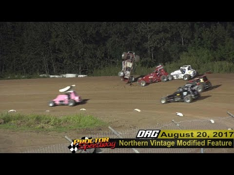 Mark Peine Roll Over 8/20/17 Proctor Speedway