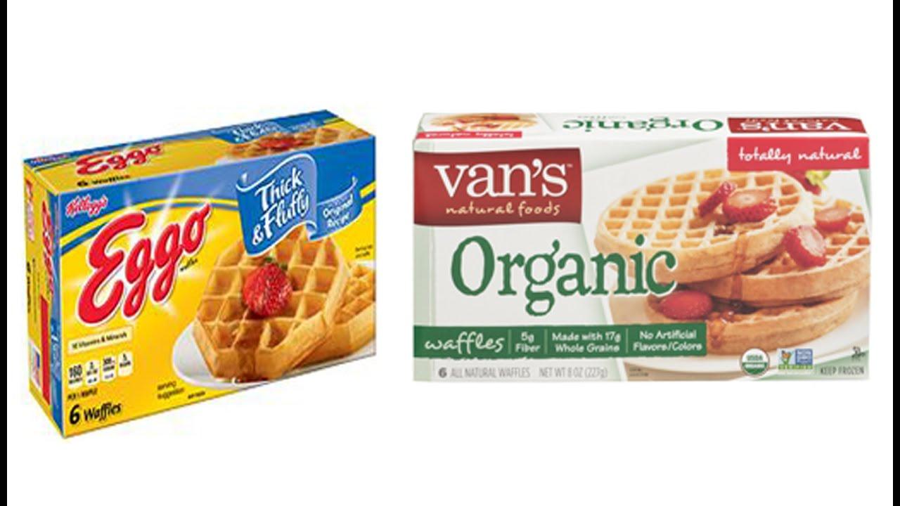 Food Labels - Kellogg's Eggo Waffles vs