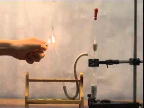 Thí nghiệm AXETILEN Cháy trong không khí