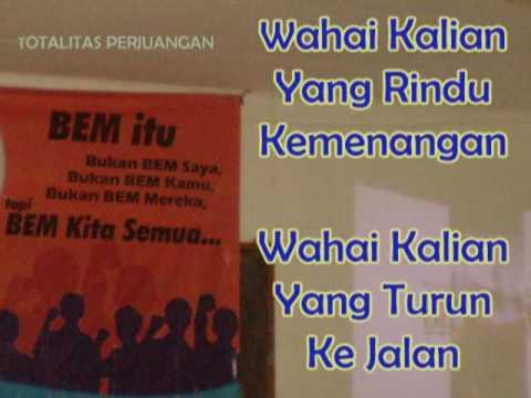 VIDEO TOTALITAS PERJUANGAN LIRIK LAGU WAJIB MAHASISWA INDONESIA BY ARSYIL