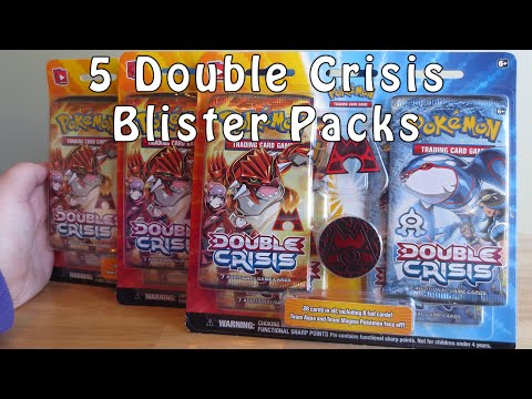 Opening 5 Pokemon Double Crisis Blister Packs