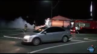Пожар автомобиля В Небуге