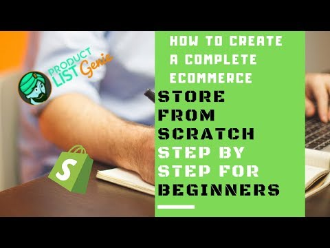 Shopify Tutorial for Beginners How to Set Up a Profitable Shopify Store Step by Step in 2019 thumbnail