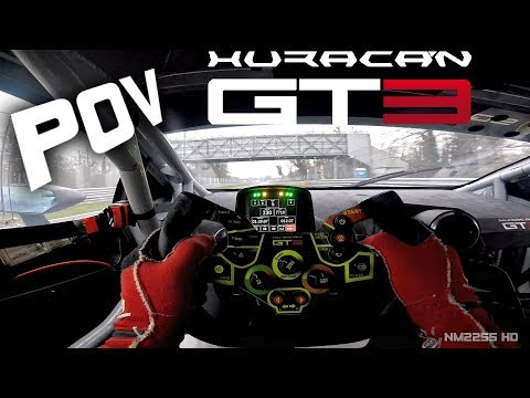 Lamborghini Huracan GT3 POV Helmetcam OnBoard At Monza Circuit With Federico Leo! - LOUD V10 Sounds!