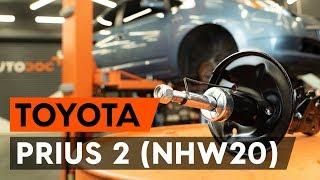 Reemplazar Cable de accionamiento freno de estacionamiento TOYOTA PRIUS: manual de taller