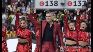 Robbie Williams illuminati y la simbología inauguración mundial de la FIFA Rusia 2018
