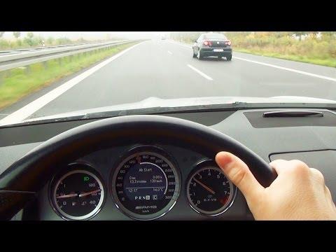 Mercedes C63 AMG Fuel Consumption at 80 100 120 140 km/h Onboard Benzin Verbrauch V8 Sound W204