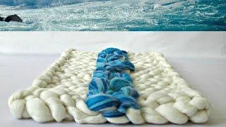 Arm Knitting: Ocean Wave Rug Tutorial Part 1