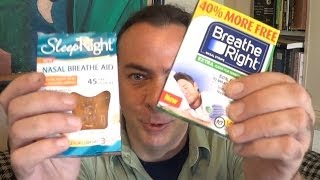 Nasal Strip Review! Breathe Right vs Sleep Right -EpicReviewGuys