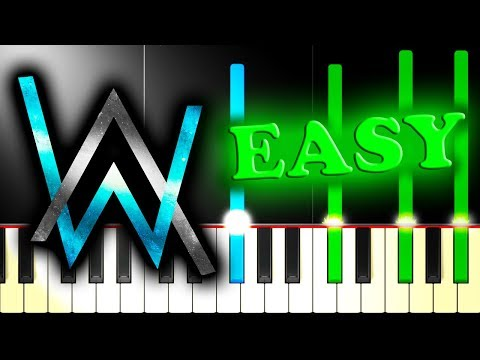 ALAN WALKER - FADED - Easy Piano Tutorial