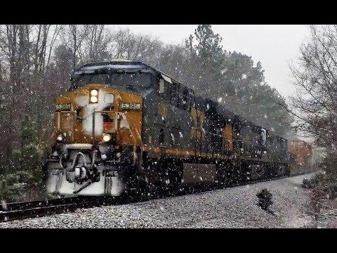 CSX Intermodal Train Q581 With CSX Leader 5395 At Edgemoor SC   1 17 2018