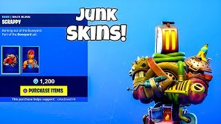 *NEW* JUNK SKINS.! (New Item Shop) Fortnite Battle Royale