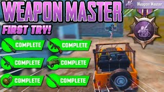 WEAPON MASTER ACHIEVEMENT ON THE FIRST TRY! PUBG Mobile