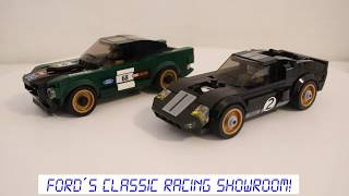 1968 Ford Mustang Fastback. LEGO Speed Champions 75884. Speed build in Ultimate Garage.