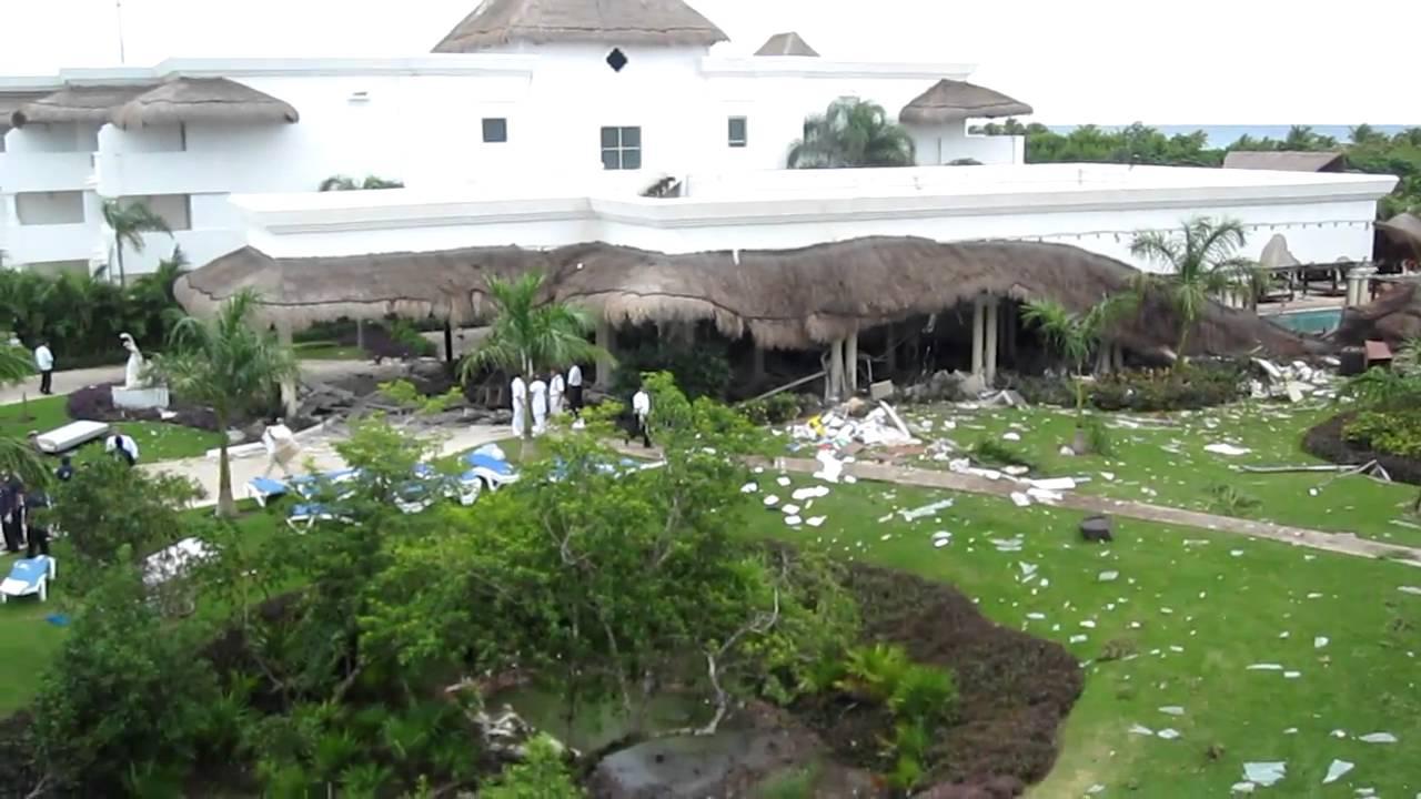 Aftermath Of Explosion At Grand Riviera Princess Resort Playa Del Carmen Mexico