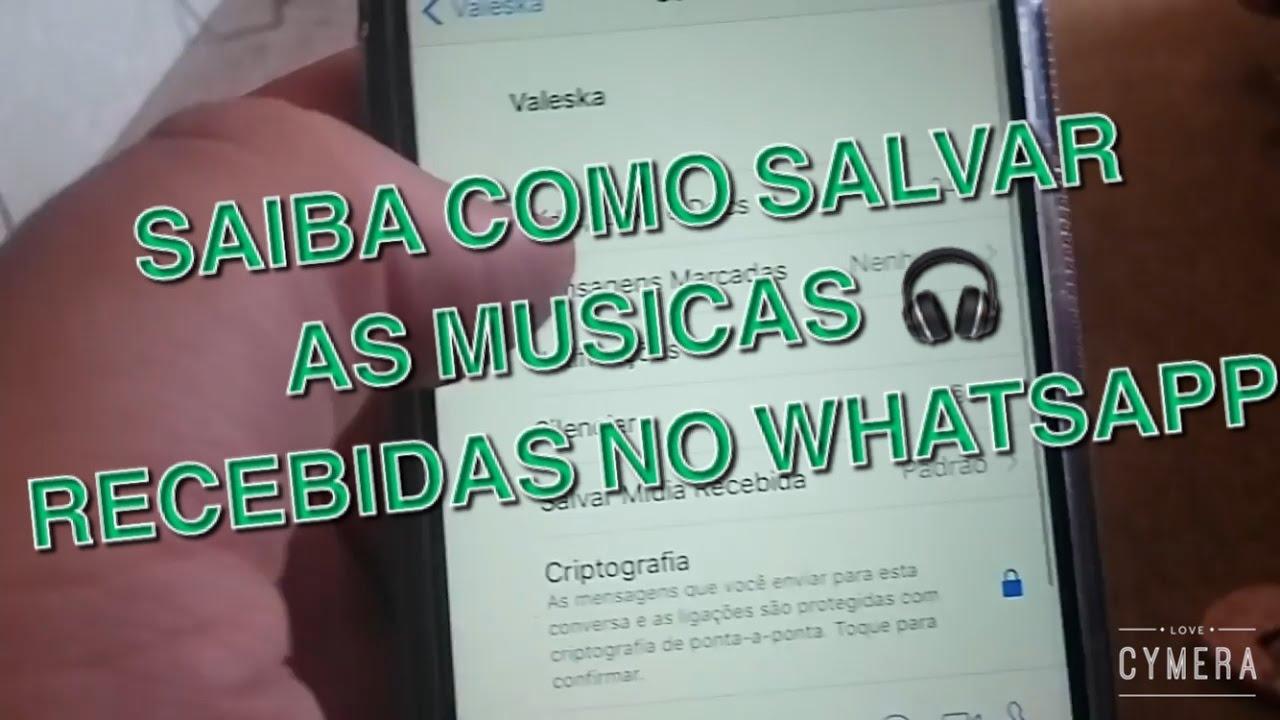 como salvar musica do whatsapp para iphone
