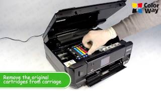 How to install refillable cartridges for Epson Xp-600