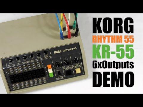 Korg Rhythm 55 KR-55 6x Outputs Demo