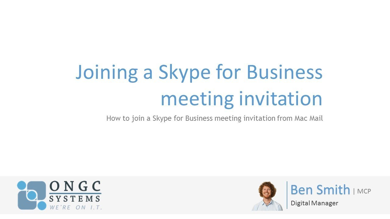 skype for business invitation in macmail youtube
