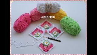 Popcorn Bebek Battaniyesi Yapımı / Motif Anlatımı 1. BöLÜM / Baby Blanket Crochet
