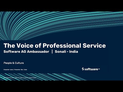 The Voice of Professional Service | Software AG's ambassador Sonali | India