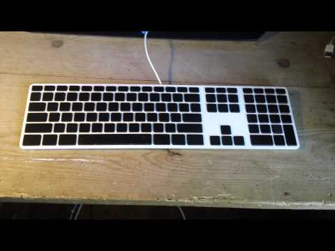 apple wired keyboard color change up youtube. Black Bedroom Furniture Sets. Home Design Ideas