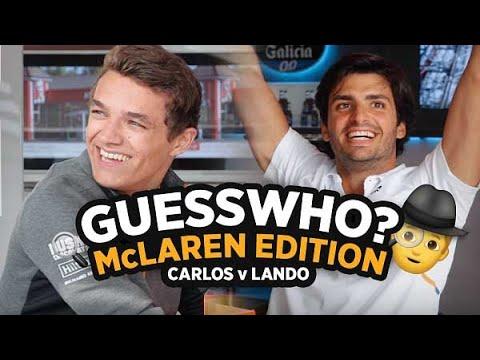 Carlos Sainz and Lando Norris play Guess Who? McLaren Edition - Motor Informed