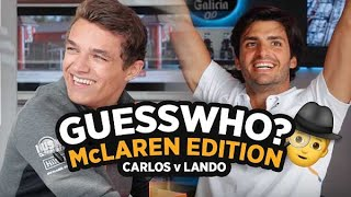 Carlos Sainz and Lando Norris play Guess Who? McLaren Edition