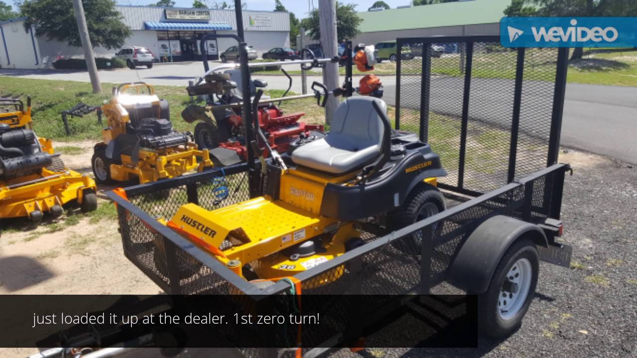 Dealership hustler lawn mower