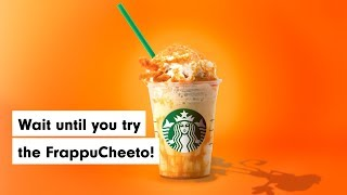 Starbucks and Cheetos have teamed up to bring us the FrappuCheeto we didn't ask for.