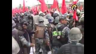 Lathi charge at maoist