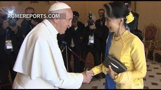 Pope Francis meets Aung San Suu Kyi