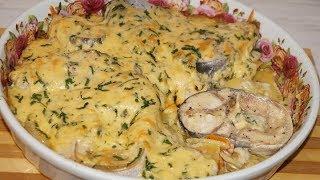 Очень вкусно)рыба с картошкой под сыром в духовке.Рыба пангасиус в духовке.