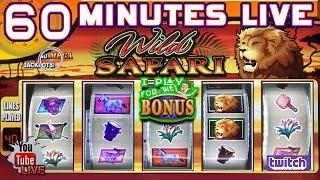 🔴 60 MINUTES LIVE ★ WILD SAFARI ★ G+ SLOT MACHINE