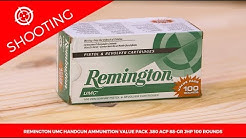 Remington UMC Handgun Ammunition Value Pack .380 ACP 88-gr. JHP 100 Rounds