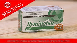 Remington UMC Handgun Ammunition Value Pack .380 ACP 88-gr. JHP 100 Rounds